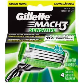 Carga Gillette mach 3 sensitive 4 unidades