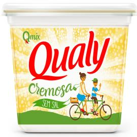 Margarina Qualy creme vegetal sem sal 500g