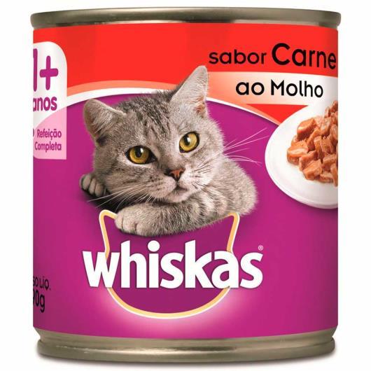 Alimento para gatos Whiskas sabor carne lata 290g - Imagem em destaque