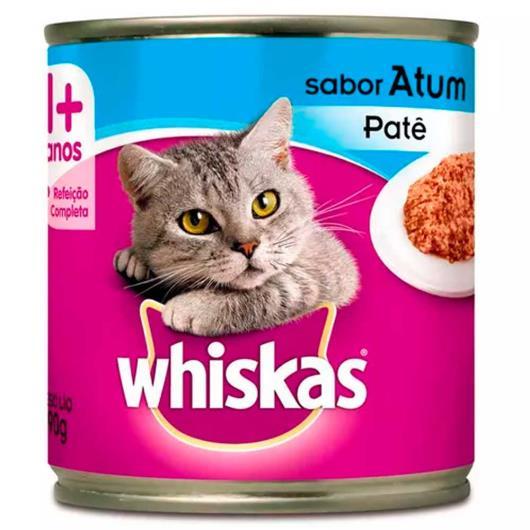 Alimento para gatos Whiskas sabor patê de atum lata 290g - Imagem em destaque