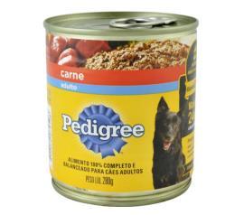 Alimento para cães Pedigree adultos sabor carne lata 280g