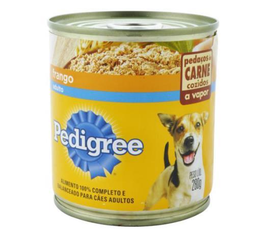 Alimento para cães Pedigree adultos sabor frango ao molho lata 280g - Imagem em destaque
