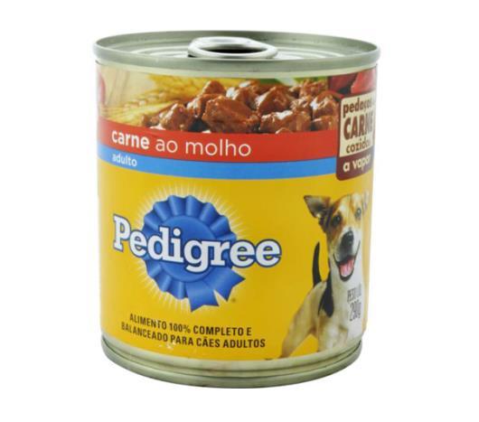 Alimento para cães Pedigree adultos carne com molho lata 290g - Imagem em destaque