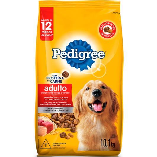 Ração para cães Pedigree adulto sabor carne, frango e cereais 10,1 kg - Imagem em destaque
