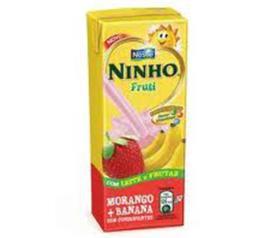 Bebida láctea Ninho fruti solzinho morango com banana 200ml