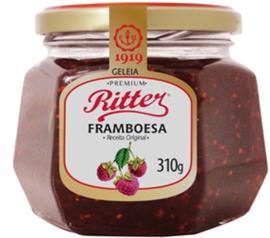 Geleia Ritter sabor framboesa premium  310g