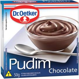 Mistura em pó para pudim Dr. Oetker sabor chocolate 50g