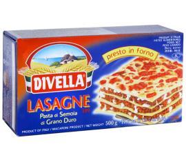 Massa Divella sêmola lasagne 109 500g