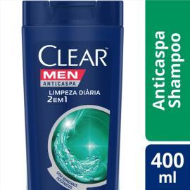 Shampoo CLEAR Men anticaspa limpeza 2 em 1 400ml