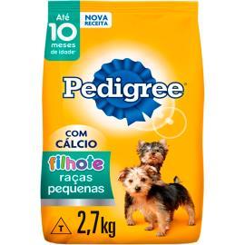 Ração Pedigree filhotes para raças pequenas 2,7kg