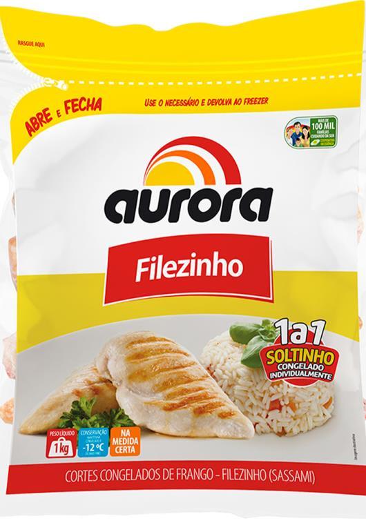 Filezinho de frango congelado zip Aurora 1 kg - Imagem em destaque