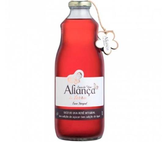 Suco Aliança da Terra Uva Rosé Integral 1l - Imagem em destaque