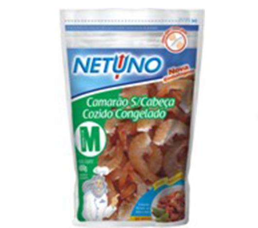 Camarão Netuno cozido sem cabeça congelado 400g - Imagem em destaque