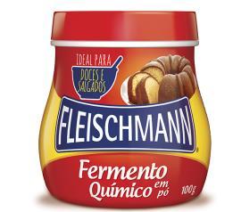 Fermento Fleischmann em pó 100g