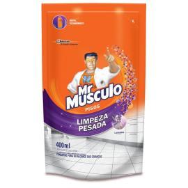 Limpador Mr. Músculo lavanda limpeza pesada refil 400ml
