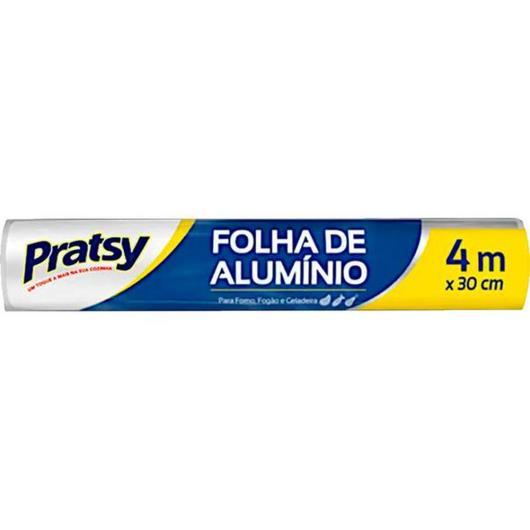 Papel Alumínio Pratsy 30cm x 4m - Imagem em destaque