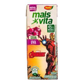 Bebida de Soja Yoki Mais Vita Uva Avengers 200ml