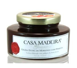 Geleia Casa Madeira extra com pedaços de morango 250g