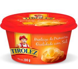 Manteiga Tirolez com sal 200g