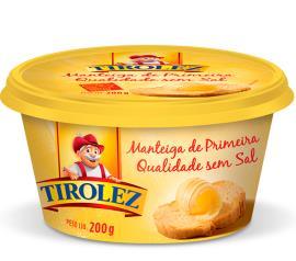 Manteiga Tirolez sem sal 200g