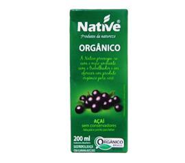 Suco orgânico Native sabor açaí com guaraná 200ml