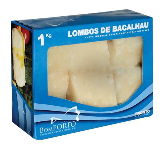 Bacalhau Congelado Bom Porto Lombo Macro Dessalgado 1kg - Imagem em destaque