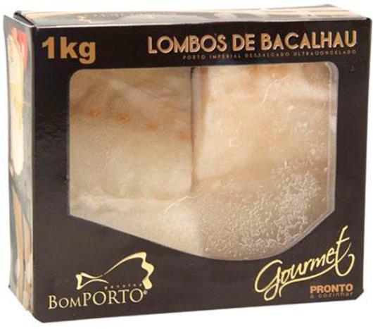 Bacalhau Congelado Bom Porto Lombo Gourmet Dessalgado 1kg - Imagem em destaque