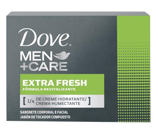 Sabonete em Barra Hidratante Dove Men Care Extra Fresh 90g - Imagem em destaque