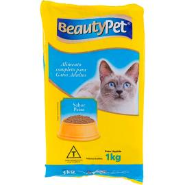 Alimento para gatos pet adulto sabor peixe BeautyPet 1kg