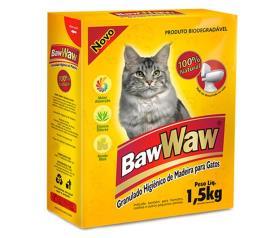 Granulado higiênico de madeira para gatos Baw Waw 1,5kg