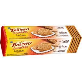 Biscoito Triunfo  mix de linhaça com cereais 185g
