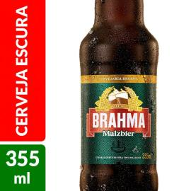 CERVEJA BRAHMA MALZBIER 355 ML LONG NECK