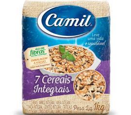 Arroz Integral Parboilizado Camil 7 Cereais 1kg