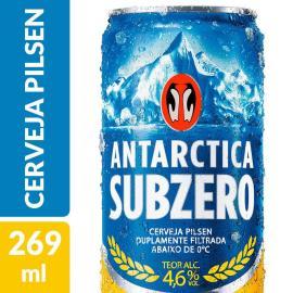 Cerveja Antarctica sub zero lata 269ml