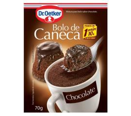 Mistura para bolo de caneca Oetker sabor chocolate 70g