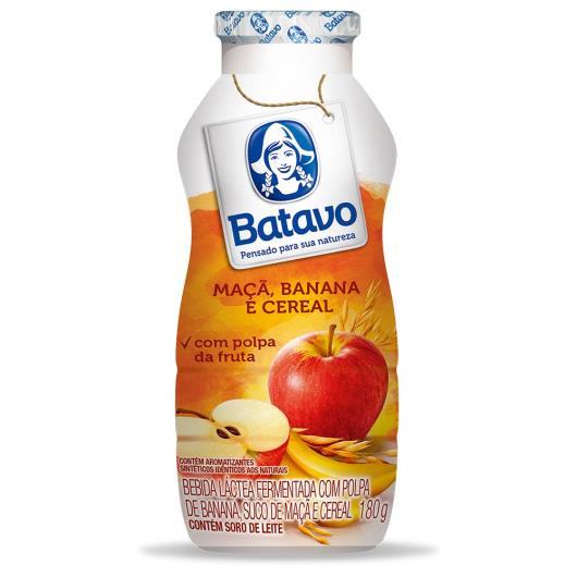 Bebida láctea Batavo maçã, banana e cereais 180g - Imagem em destaque