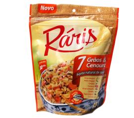 Arroz Ráris 7 grãos e cenoura 500g