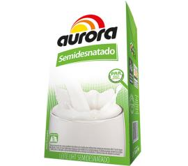 Leite Aurora Semi-Desnatado 1L