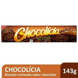 Biscoito Chocolícia recheado de chocolate 143g