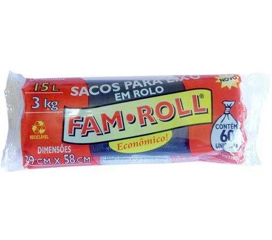 Saco de Lixo Farm Roll Preto 15 Litros - Imagem em destaque