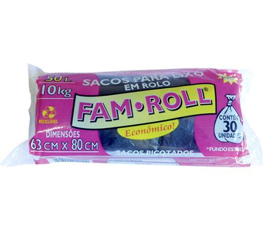 Saco de Lixo Farm Roll Preto 50 Litros - Imagem em destaque