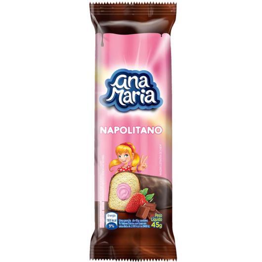 Bolo Ana Maria napolitano recheado morango 45g - Imagem em destaque