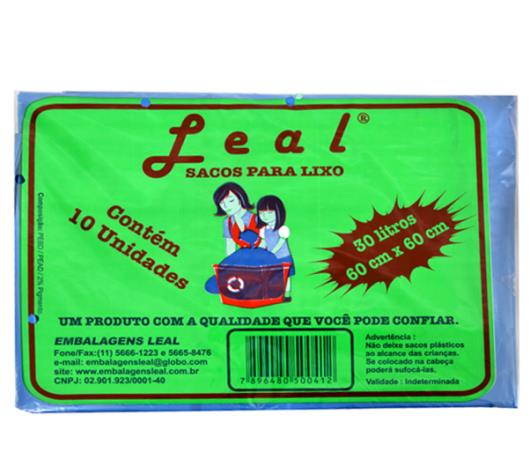 Saco para lixo Leal Azul 30 Litros - Imagem em destaque
