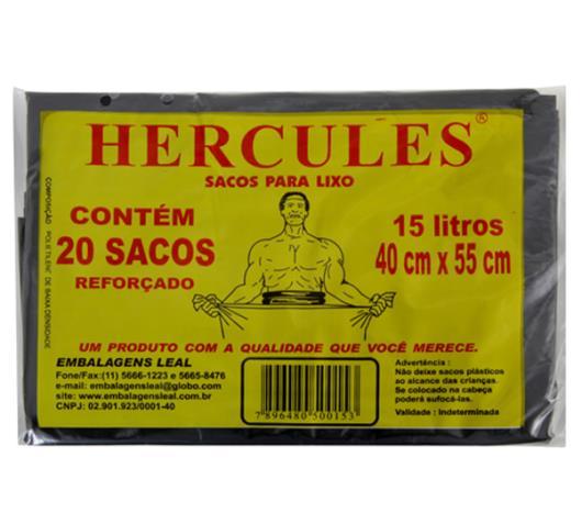 Saco Lixo Hércules Preto 15 Litros - Imagem em destaque