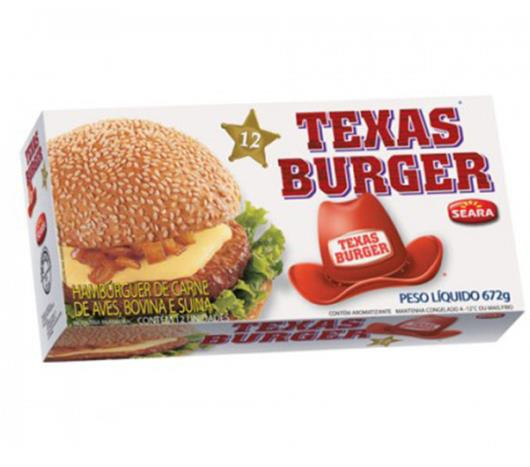 Hambúrguer Misto Seara Texas Burguer 672g (Carne Bovina, Suína e Frango) - Imagem em destaque