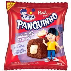 Mini bolo Panco Panquinho chocolate e baunilha 70g