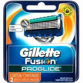 Carga Gillette Fusion Proglide com 2 unidades