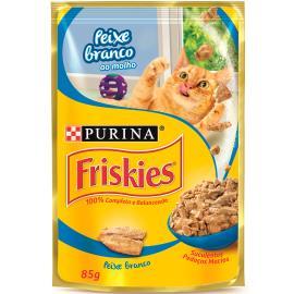 Alimento para gatos Friskies adulto peixe sachê 85g