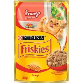 Alimento para gatos Friskies adulto frango sachê 85g