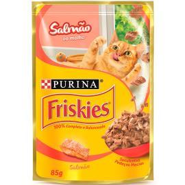 Alimento para gatos Friskies adulto salmão sachê 85g